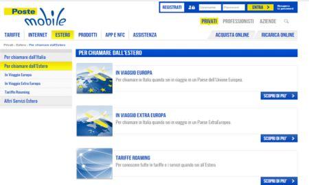 poste mobile estero poste mobile tariffe per chiamare e navigare all estero
