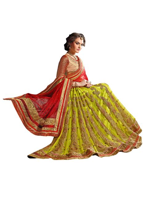 embroidery unstitched design buy green embroidered net unstitched lehenga online