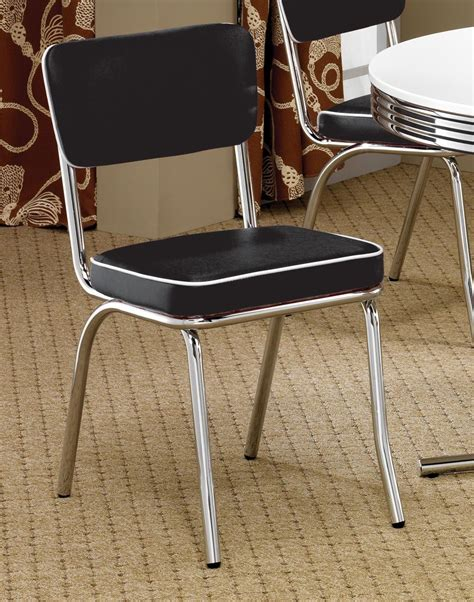 retro dining room 2388 retro chrome retro dining room set from coaster