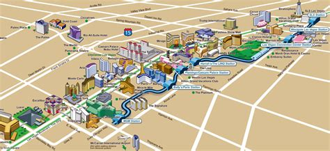 map usa las vegas large map of casinos and hotels of las vegas city las