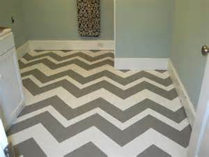 grey painted concrete wall concrete chevron painted floor contemporary laundry room blue