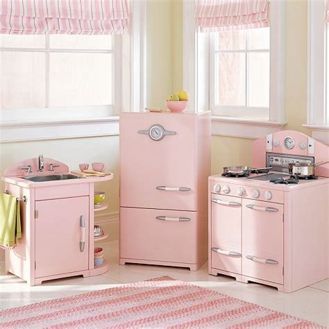 pottery barn retro kitchen pink pottery barn kitchen for hooked on houses