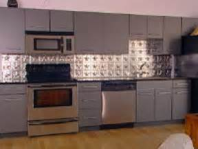 Kitchen Metal Backsplash by How To Create A Tin Tile Backsplash Hgtv