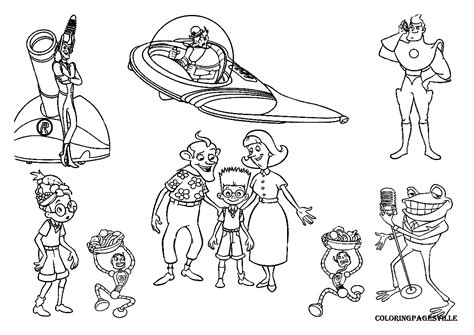 Meet The Robinsons Coloring Pages Meet The Robinsons Coloring Pages