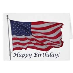 american flag birthday card zazzle