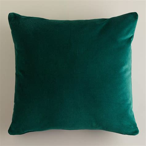 green velvet throw pillows world market