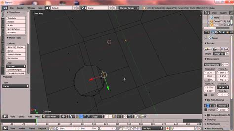 membuat video animasi di blender belajar blender 2 membuat lubang di sebuah object youtube