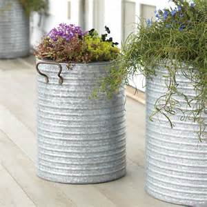 pots and planters galvanized steel planter contemporary outdoor pots and planters other metro by rejuvenation
