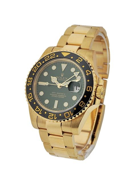 Rolex Gmt Master Ll Ceramic All Gold 116718 rolex gmt master ii all gold essential watches