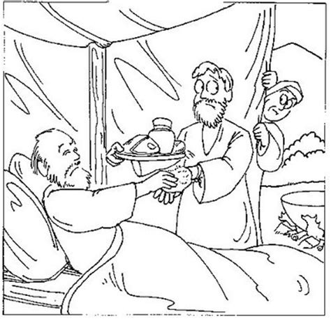 coloring pages for jacob and esau giacobbe giacobbe disegni