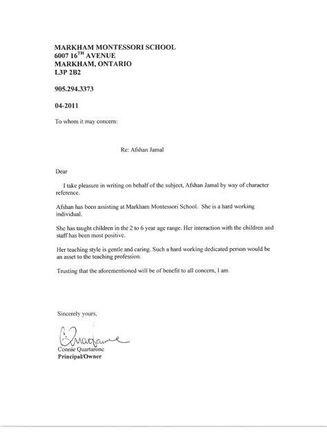cover letter exles for montessori documents casa montessori