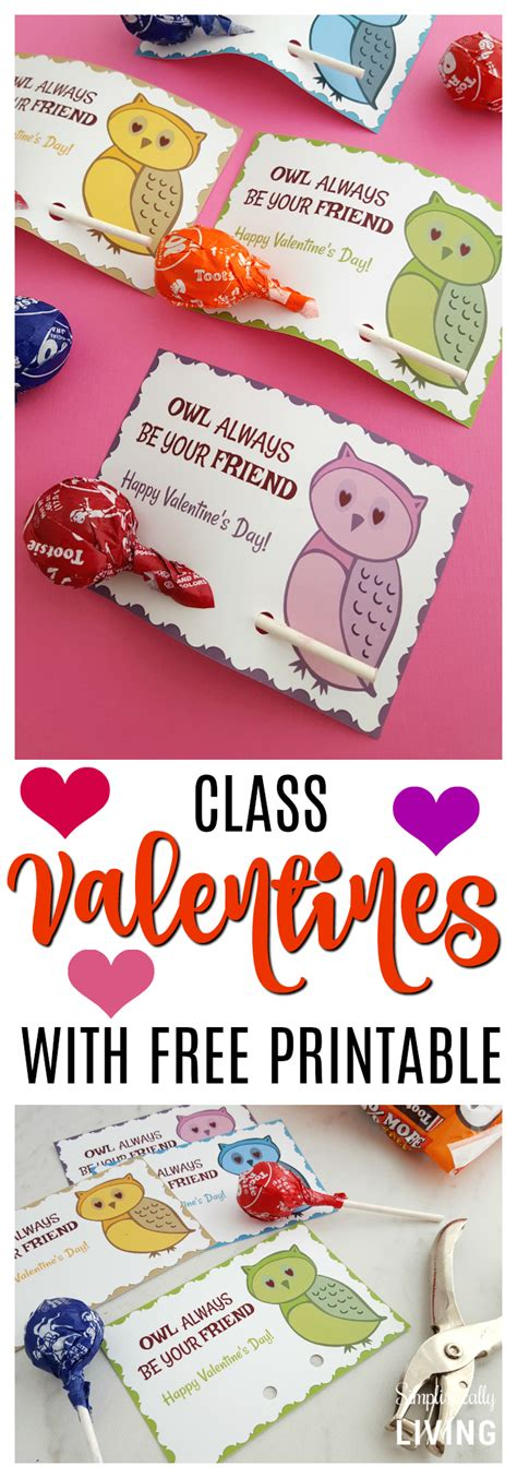 Or Valentines Owl Printable Archives Simplistically Living