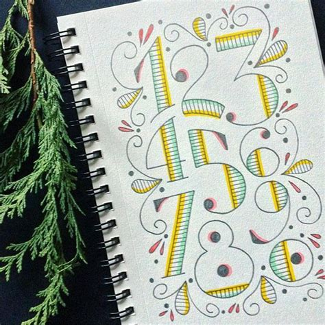 doodle numbers the 25 best number fonts for tattoos ideas on