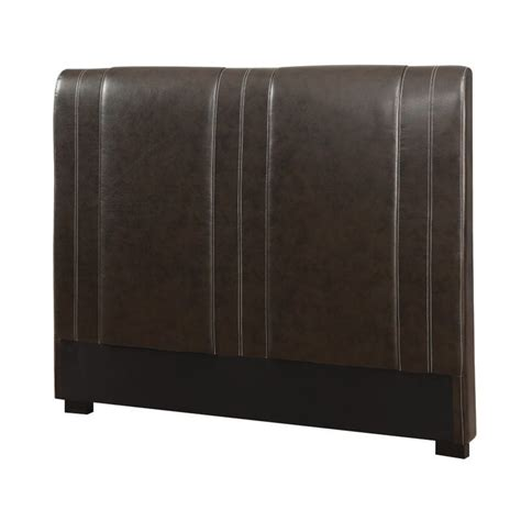 Leather Headboard King Coaster Caleb California King Faux Leather Headboard In Brown 300123kwb1