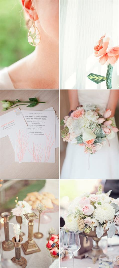 wedding themes gold and cream peach gold cream wedding color inspiration