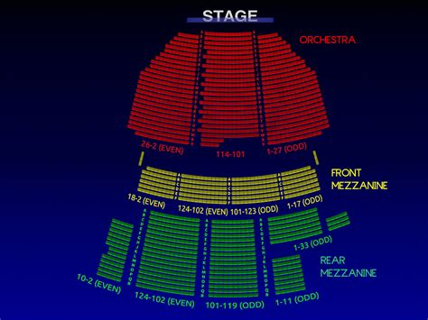 king broadway interactive seating chart the broadway theatre all tickets inc