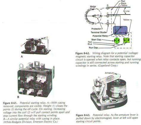 copeland potential relays for compressors wiring diagrams