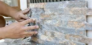 Vanity Outside Bathroom How To Install Stone Wall Cladding
