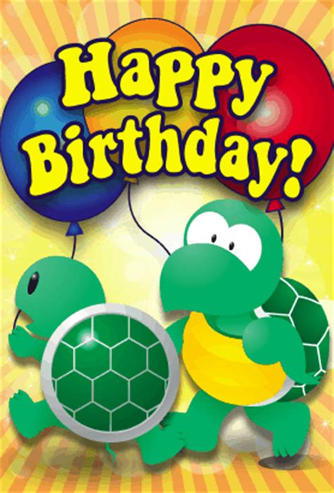 Turtle Birthday Card Turtle Birthday Card