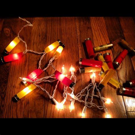 shotgun shell christmas lights spent shotgun shells strand of christmas lights