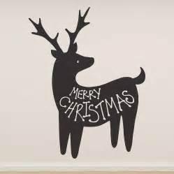merry christmas reindeer wall sticker by oakdene designs