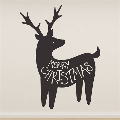 Tree Silhouette Wall Stickers merry christmas reindeer wall sticker by oakdene designs