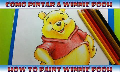 imagenes vectorizadas de winnie pooh como pintar a winnie pooh how to paint winnie pooh youtube