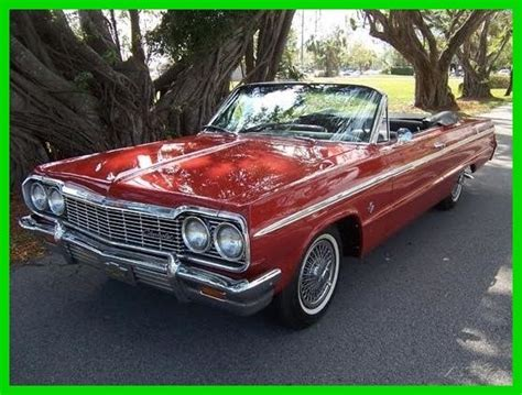 buy car manuals 2007 chevrolet impala auto manual chevrolet impala convertible 1964 red for sale 869999