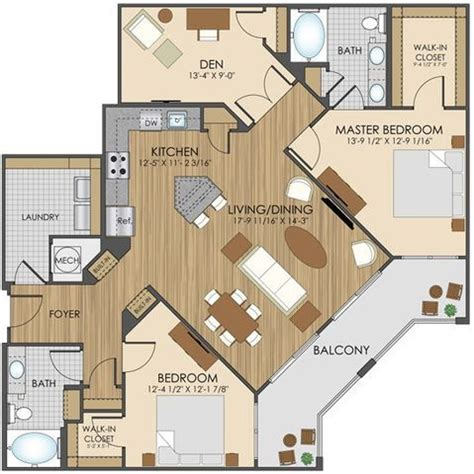 one bedroom floor plans for apartments best 25 apartment floor plans ideas on 2