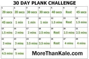 Innovative 30 day plank challenge printable calendar more than kale