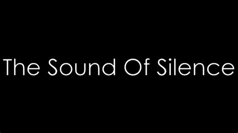 The Sound Of the sound of silence disturbed lyrics