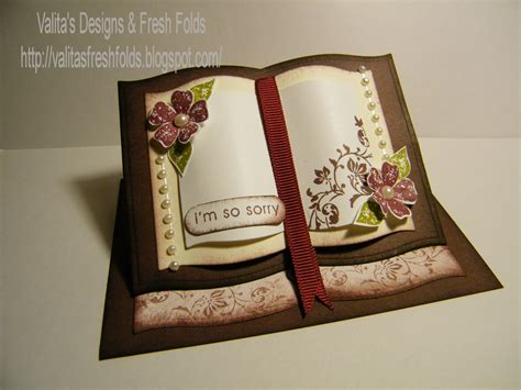 open book easel card template valita s designs fresh folds how to make a book easel card