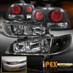 1997 Honda Accord Headlights 6pcs Black Combo 1996 1997 Honda Accord Jdm Black