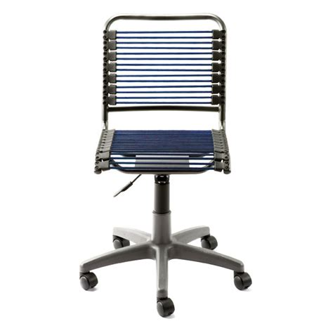 container store desk chair bungee office chair blue