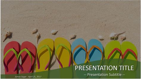 Free Summer Powerpoint Template 10203 Sagefox Summer Powerpoint Templates
