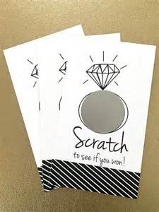 reserved set of 24 cards bridal shower scratch