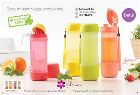 Botol Tupperware infused2 go tupperware botol minum tupperware terbaru