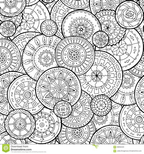 free doodle pattern vector ethnic floral mandalas doodle background circles in