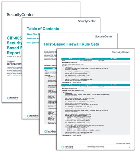 firewall report template cip 005 electronic security perimeter host based