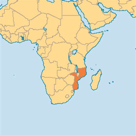 mozambique in world map mozambique operation world