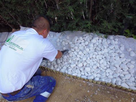 imagenes jardines con piedras foto piedra de grava blanca seleccionada de moderngarden