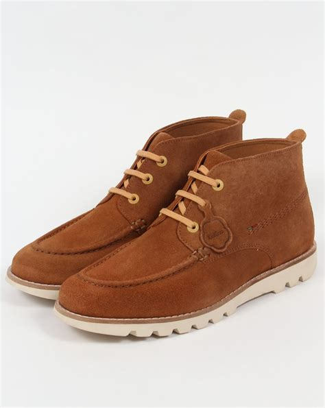 Kickers Suede kickers kymbo moccasins suede light brown boots shoe mens