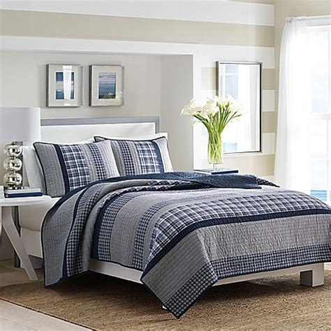 navy quilt bedding nautica 174 adelson quilt in navy bed bath beyond