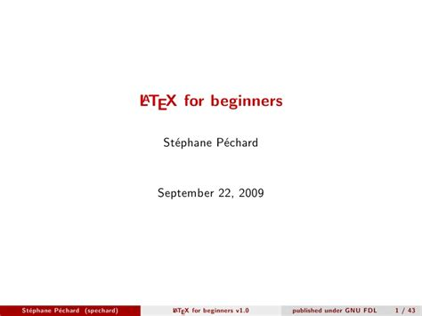 latex tutorial for beginners ppt latex for beginners