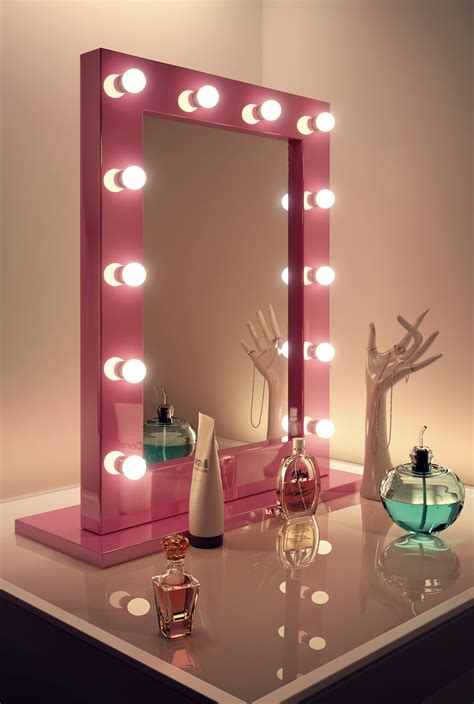 room mirror pink makeup dressing room mirror with cool white led ls k153cw ebay