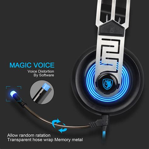 Sades Sades A9 Blue Led Gaming Headset 1 sades a7 usb gaming headset with mic led for pc laptop