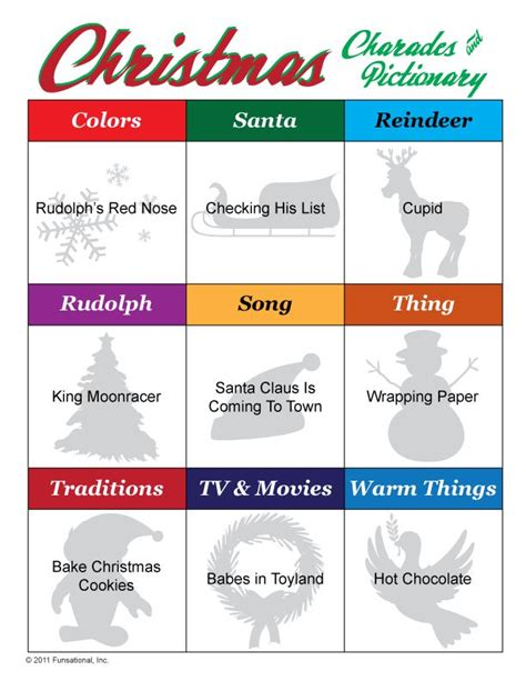 printable christmas pictionary cards holiday pictionary related keywords suggestions