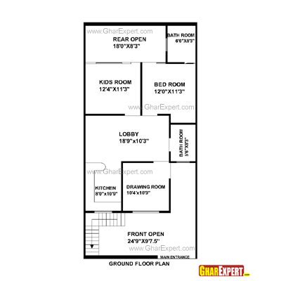 home design for 20x50 plot size house plan for 23 feet by 45 feet plot plot size