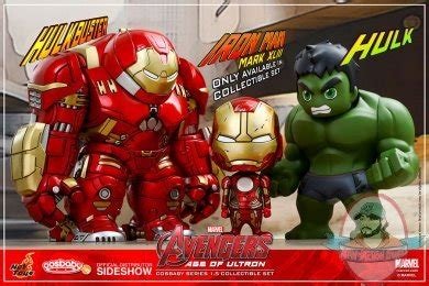 Iron Vi Toys Cosbaby Ironman 6 marvel age of ultron cosbaby series 1 5 set of 3