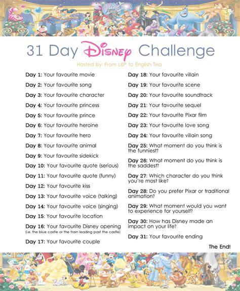 s day list 2014 31 day disney challenge day 1 dear